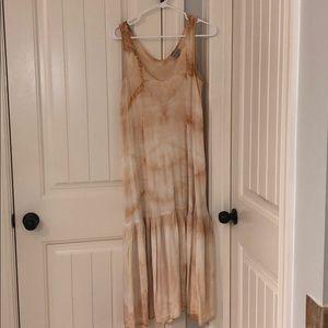 The Odells tie dye midi dress